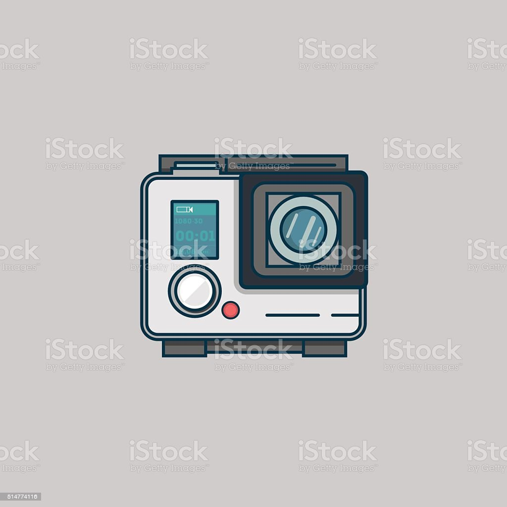 Action camera vector art illustration