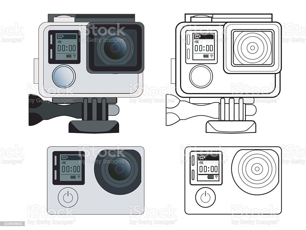 Action camera vector stock illustration vector art illustration