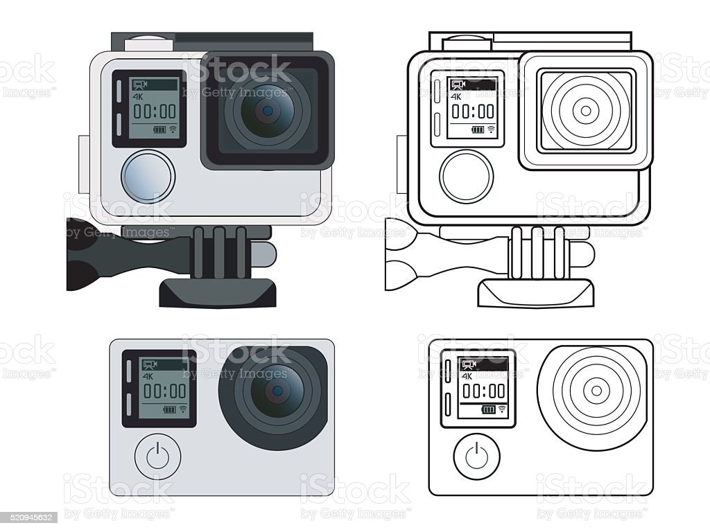 Action camera vector stock illustration vector art illustration