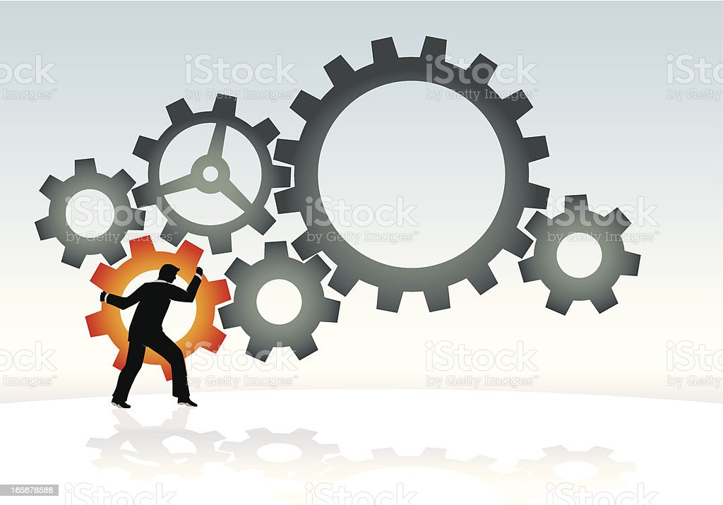Action Cogs royalty-free stock vector art