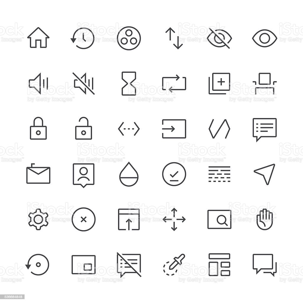 Action Icons set 7 | Thin Line series vector art illustration