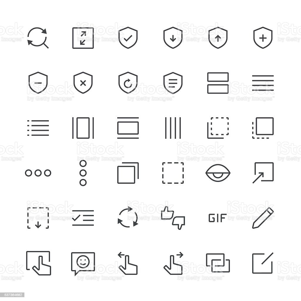 Action Icons set 9 | Thin Line series vector art illustration