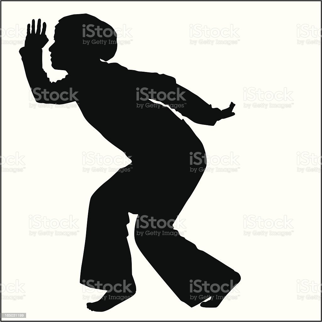 Action Posing Girl 06 royalty-free stock vector art
