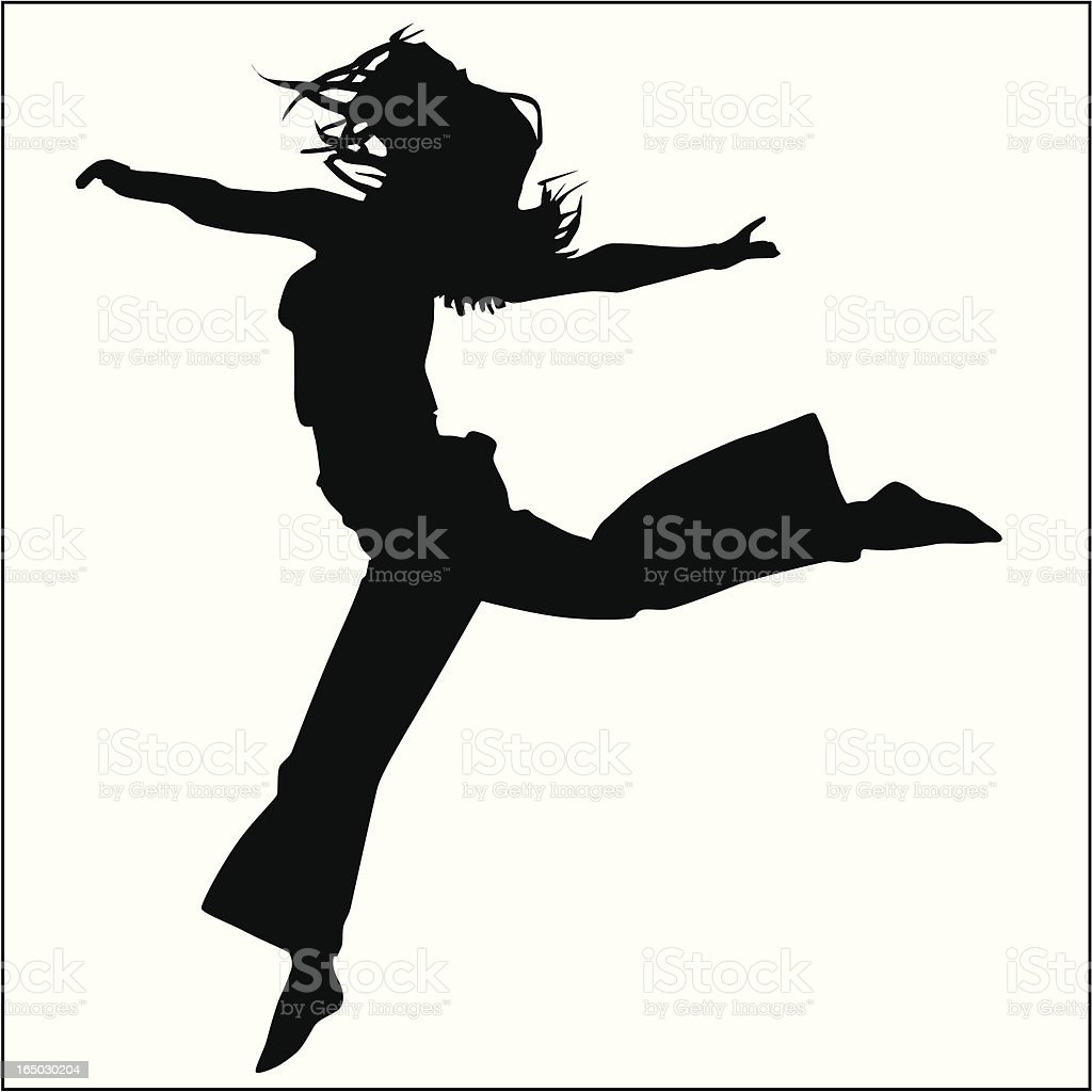 Action Posing Girl 09 royalty-free stock vector art