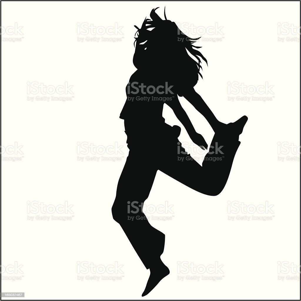 Action Posing Girl 14 royalty-free stock vector art
