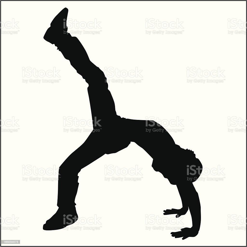 Action Posing Man 06 royalty-free stock vector art