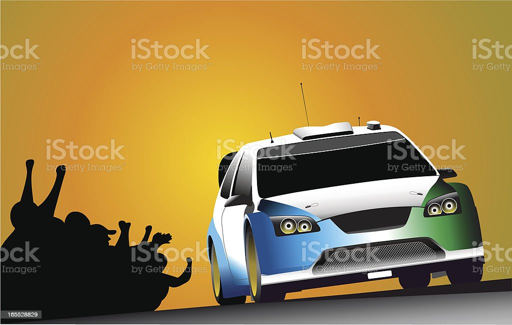 Action Rally royalty-free stock vector art