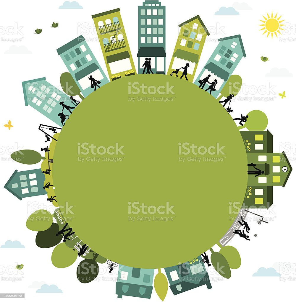 Active Community vector art illustration