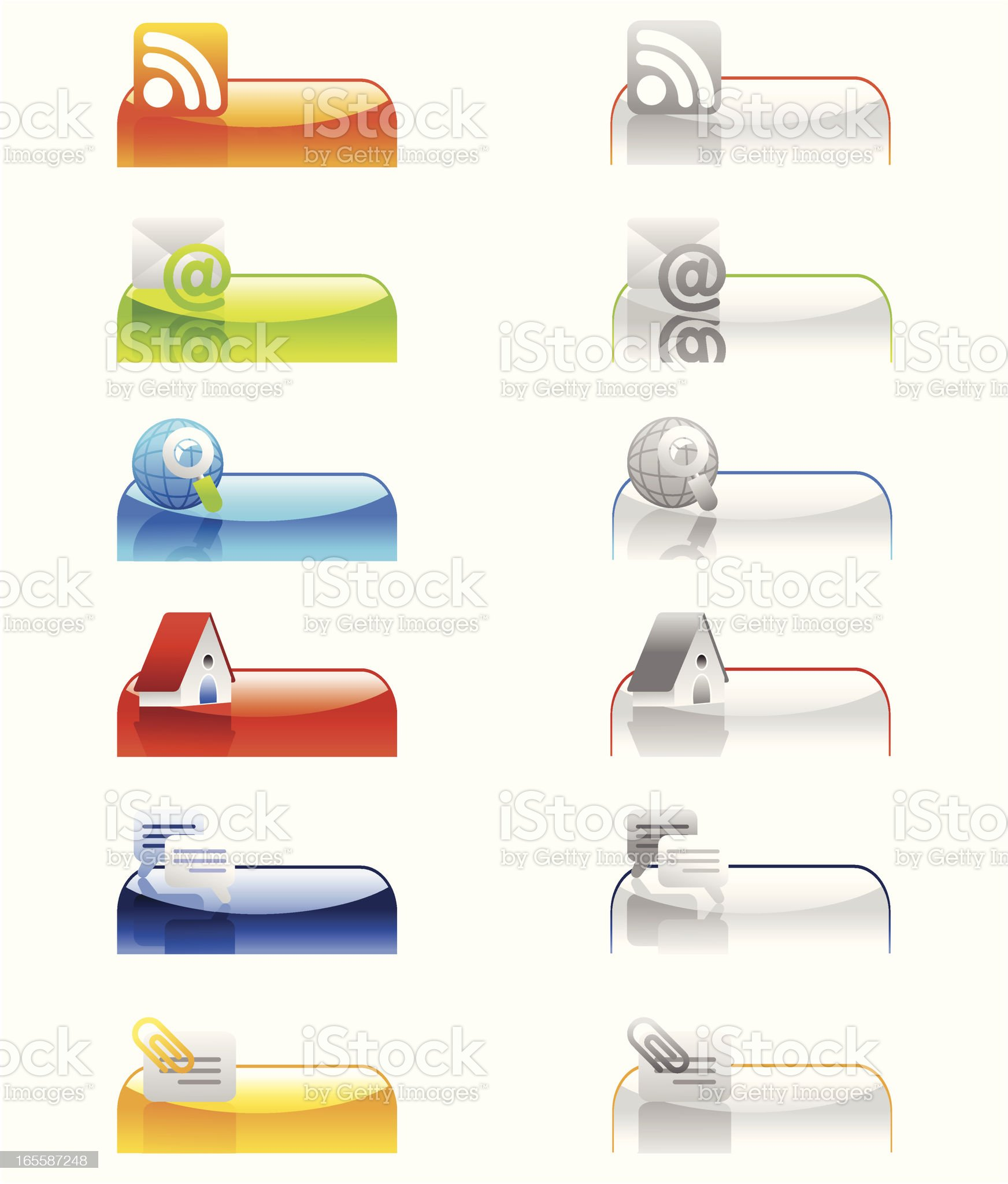 active- inactive tabs internet 2 royalty-free stock vector art