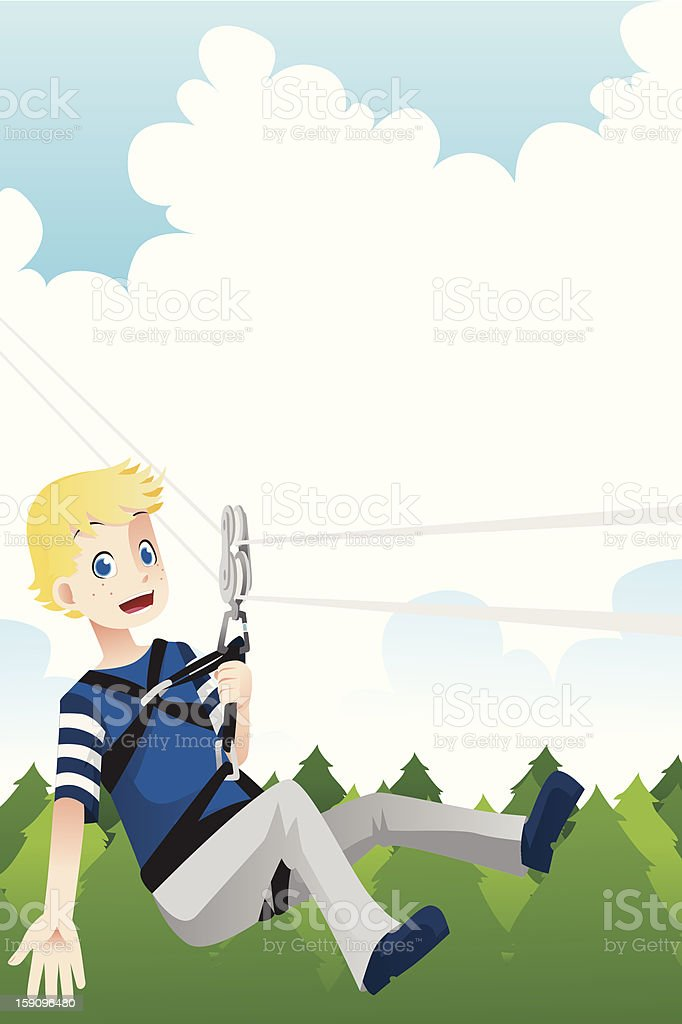 Active kid vector art illustration