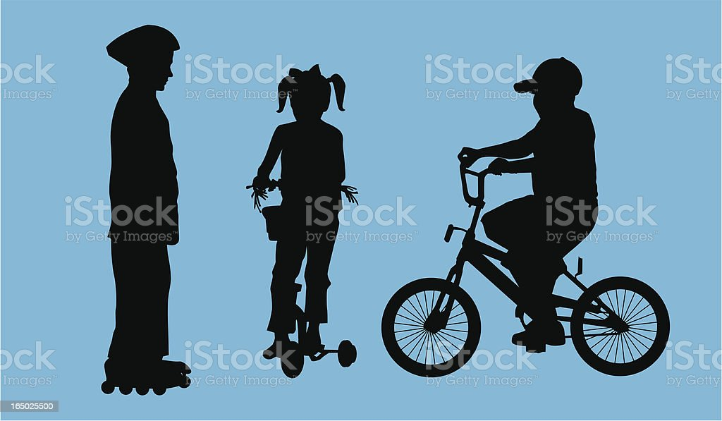 Active Kids ( Vector ) vector art illustration