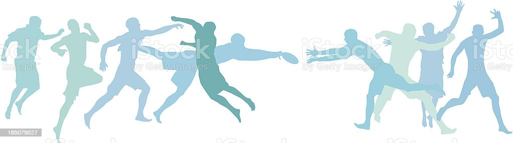 Active people playing together royalty-free stock vector art