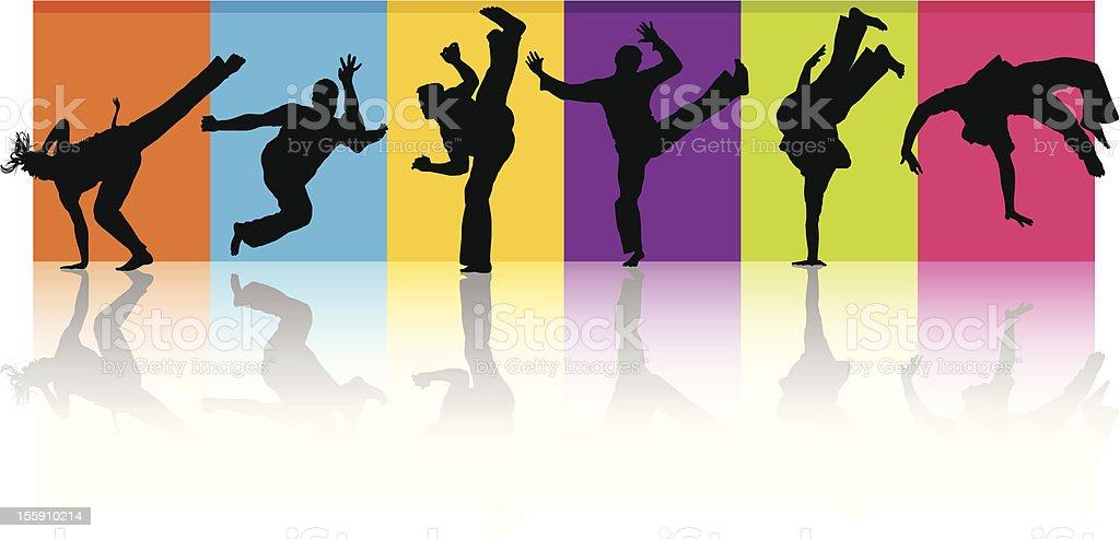 Active People vector art illustration