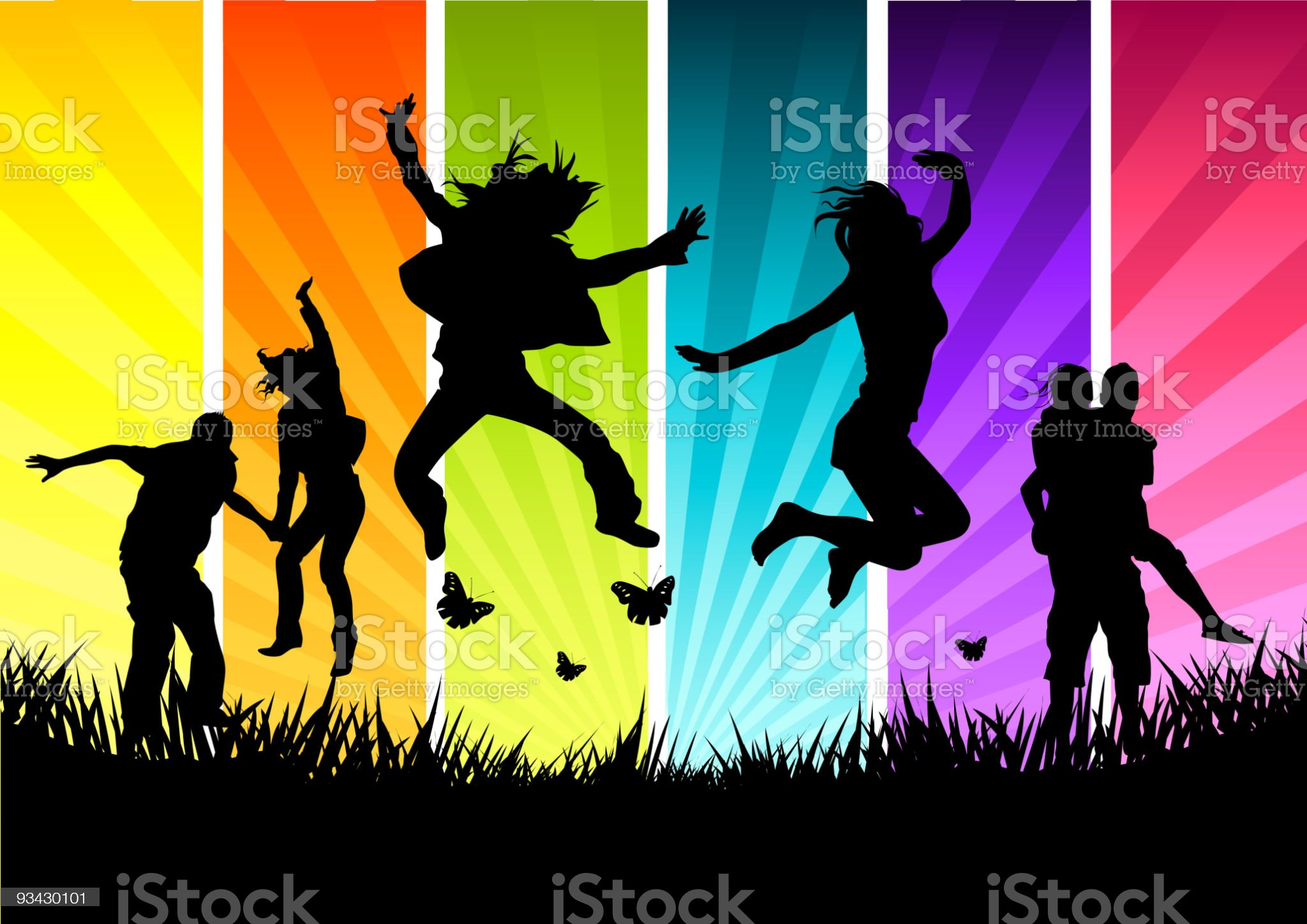 Active Young People royalty-free stock vector art