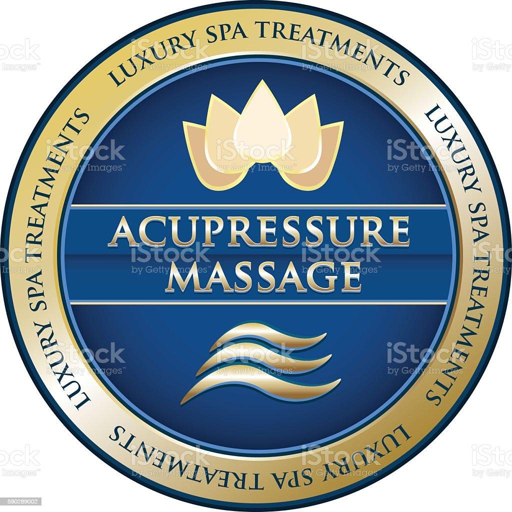 Acupressure Massage vector art illustration