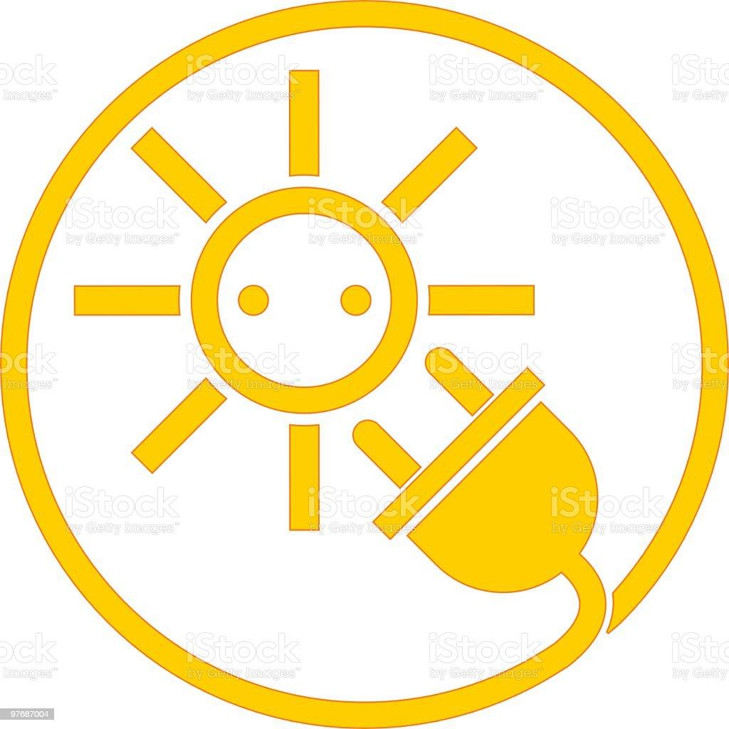 acurately Solar Energy Symbol vector art illustration