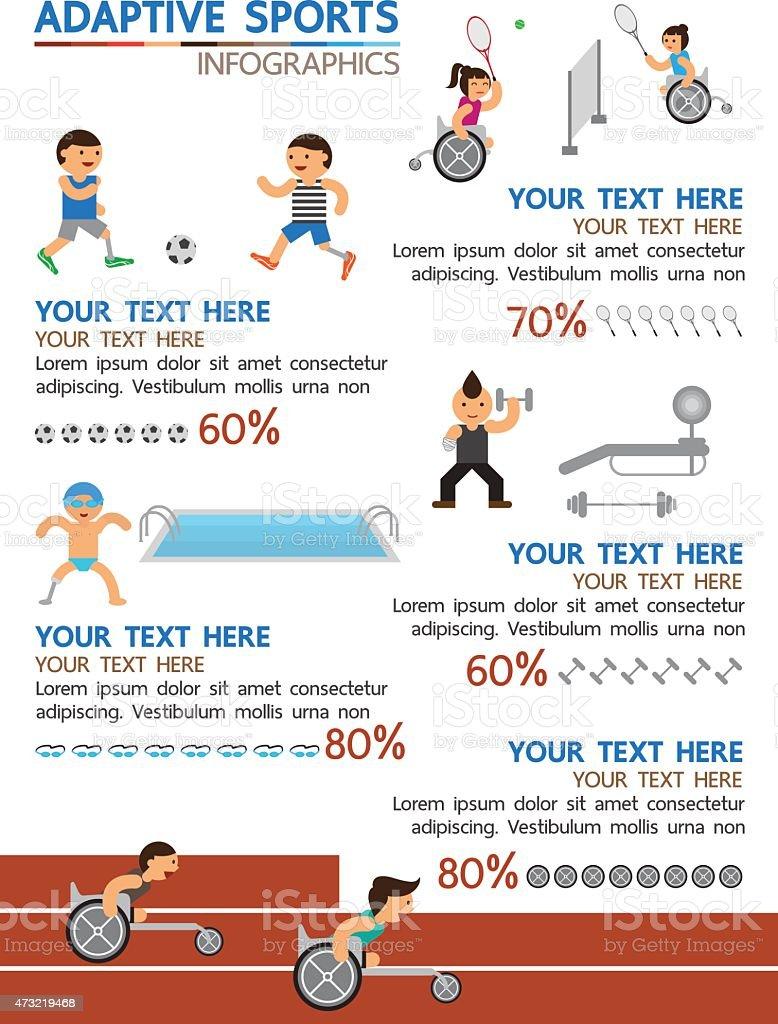 Adaptive sport infographic vector art illustration