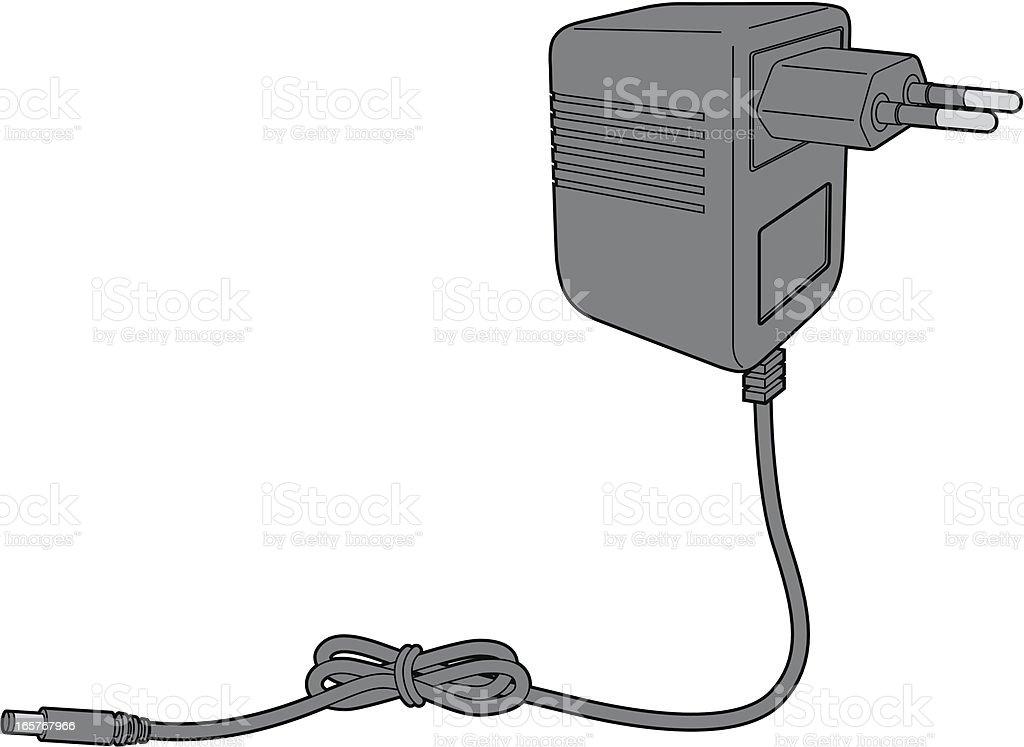 AC adaptor (power supply) royalty-free stock vector art
