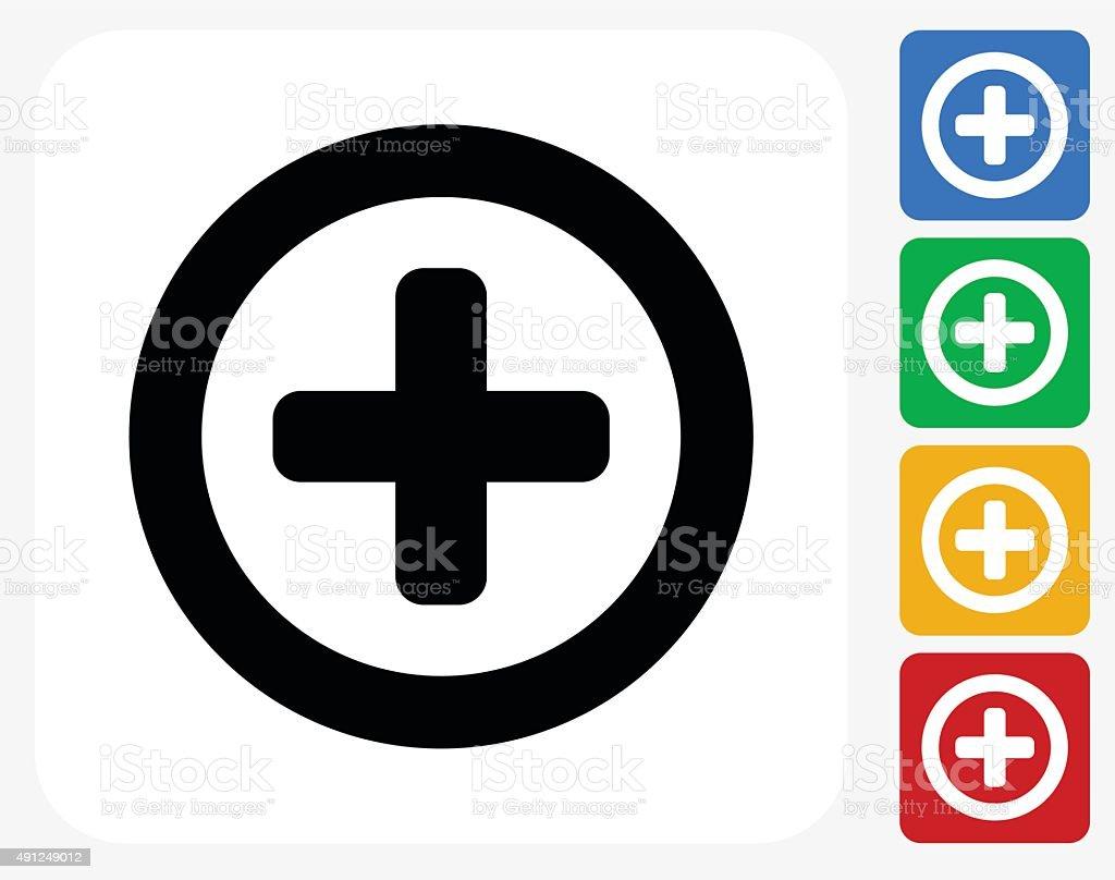 Add Icon Flat Graphic Design vector art illustration
