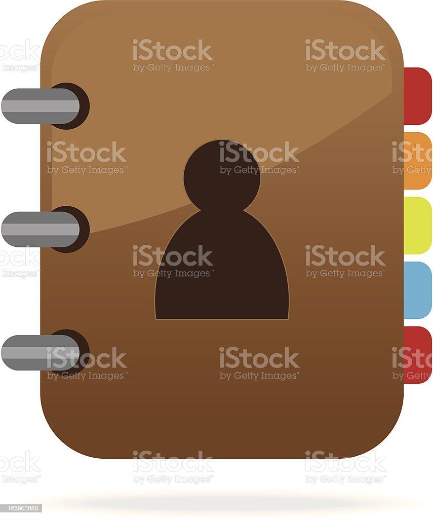 Address book icon vector art illustration