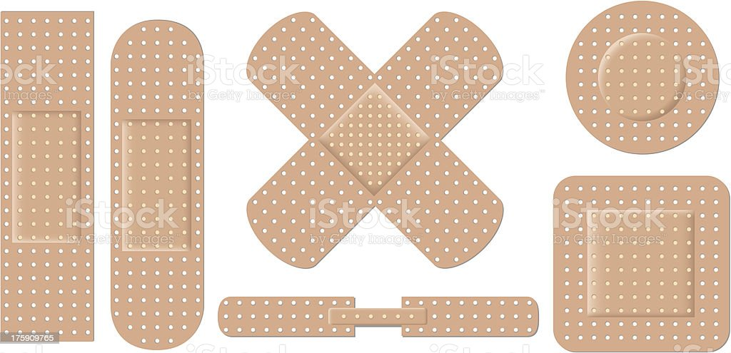 Adhesive bandage set eps8 vector art illustration