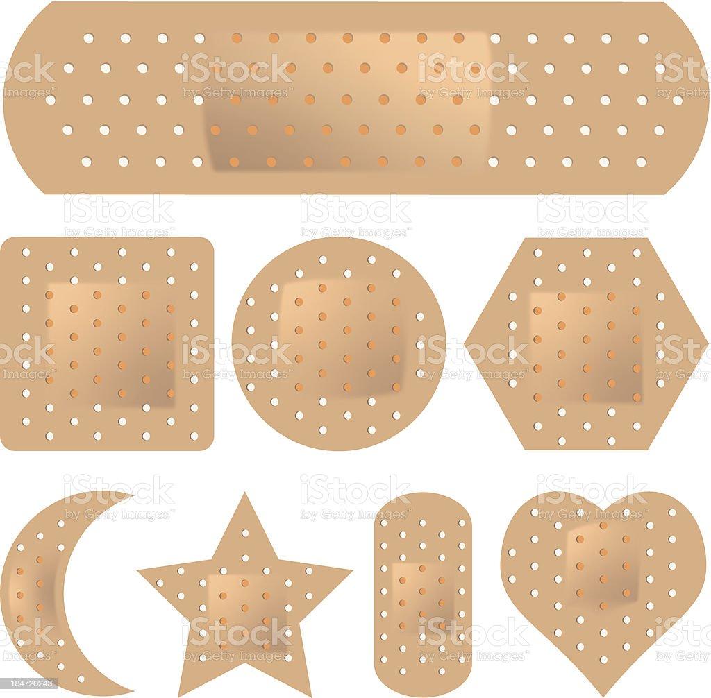 Adhesive Bandage Set royalty-free stock vector art