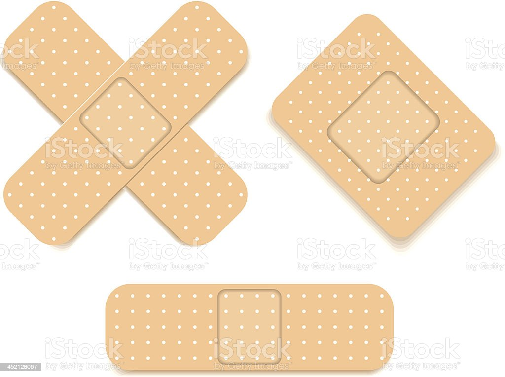 Adhesive bandage set royalty-free stock vector art