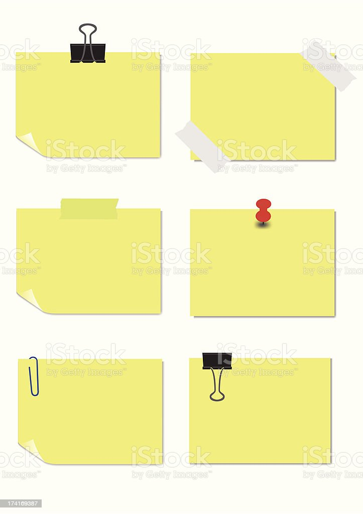 Adhesive Notes royalty-free stock vector art