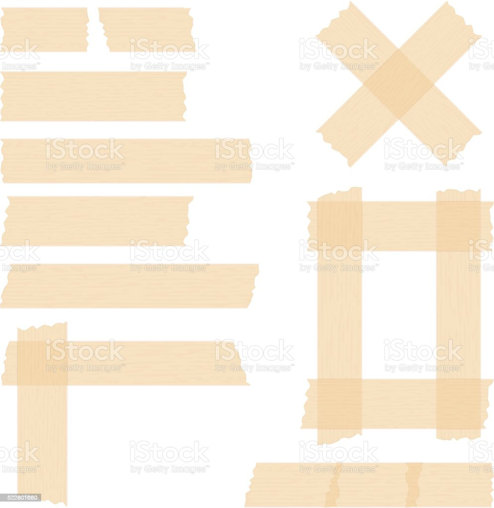 Adhesive Tape vector art illustration