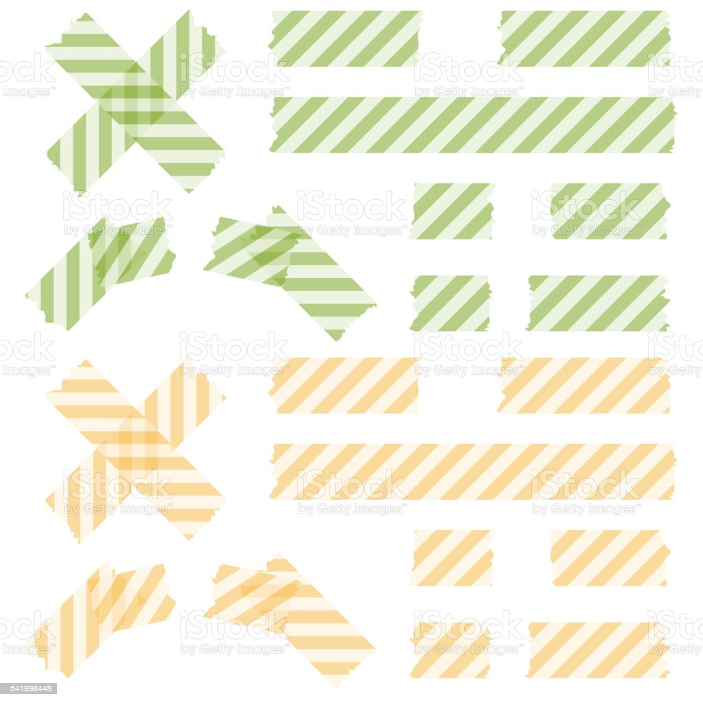 adhesive tapes lined vector art illustration