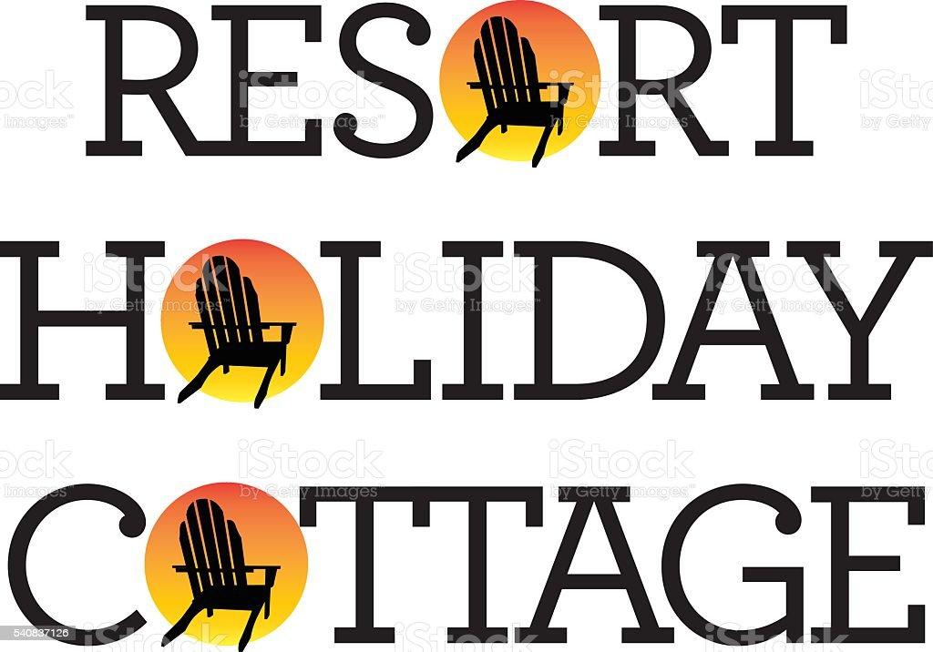 Adirondack Chair Holiday Graphics vector art illustration