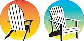 Adirondack Chair Sunset Graphics
