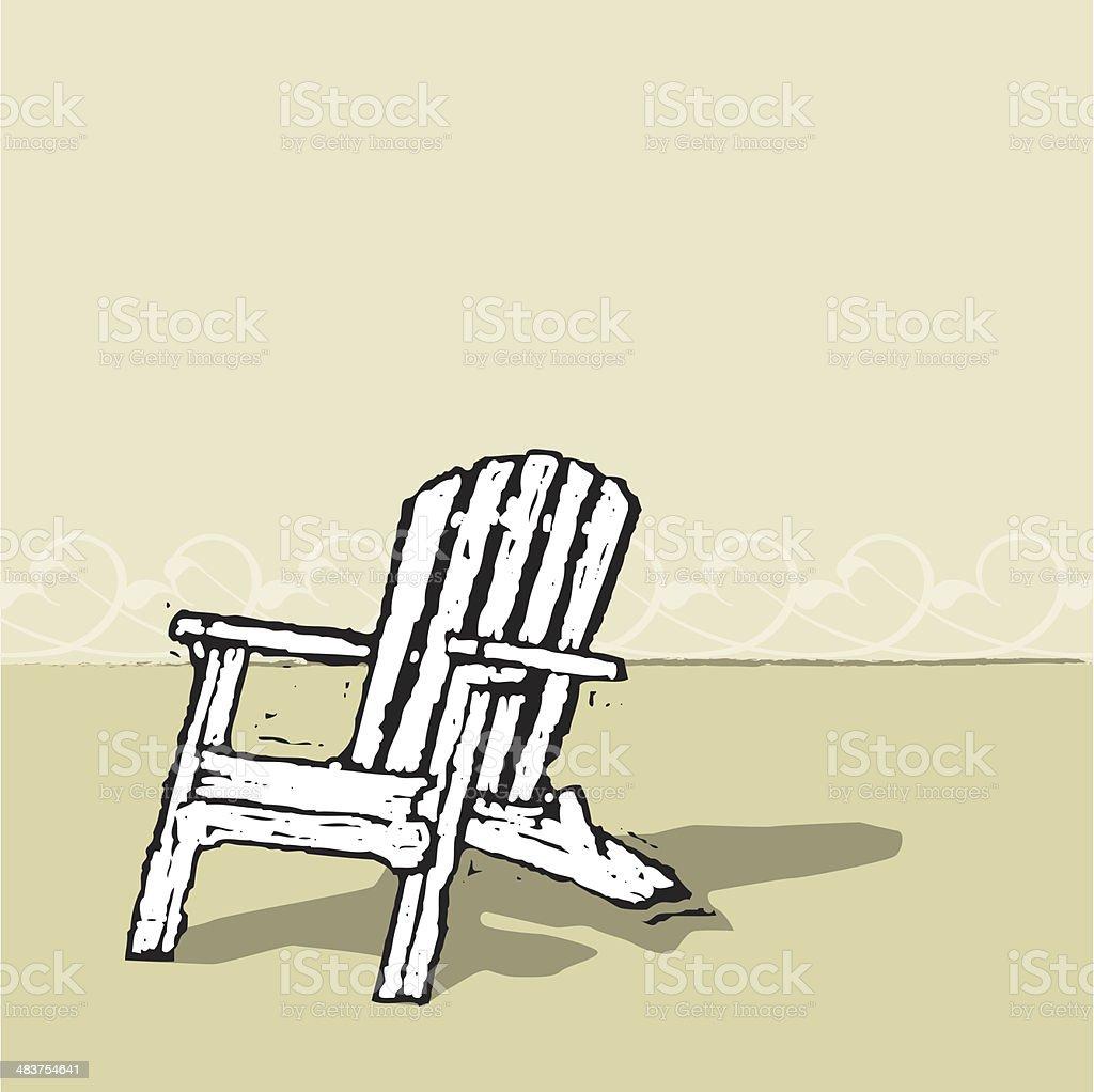 Adirondack Chair vector art illustration