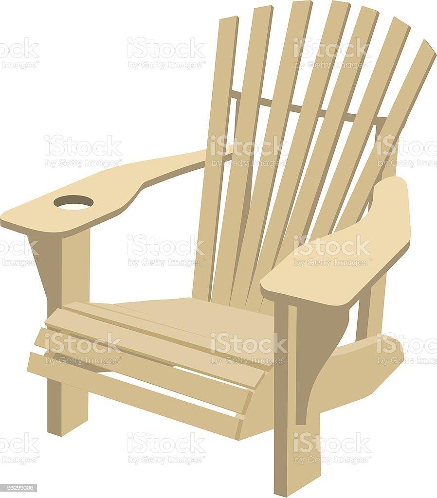 Adirondack Muskoka Chair vector art illustration