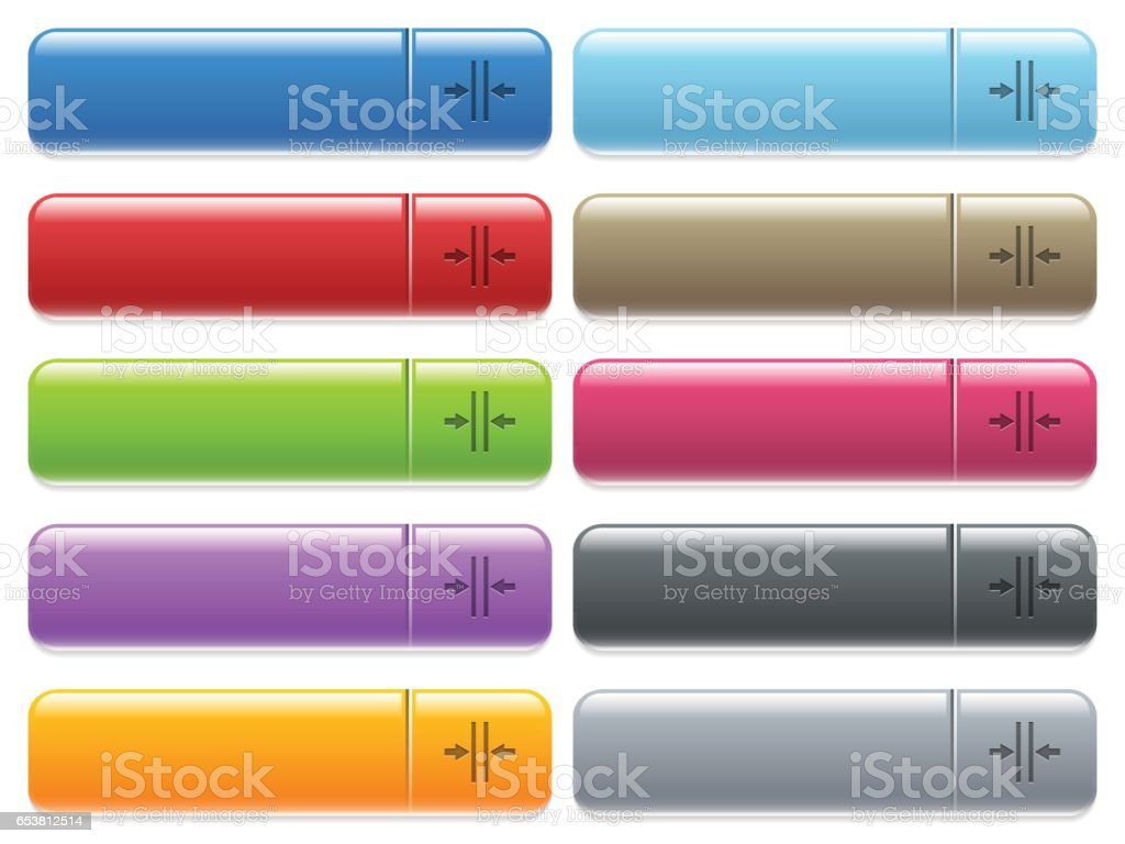 Adjust text column gutter icons on color glossy, rectangular menu button vector art illustration