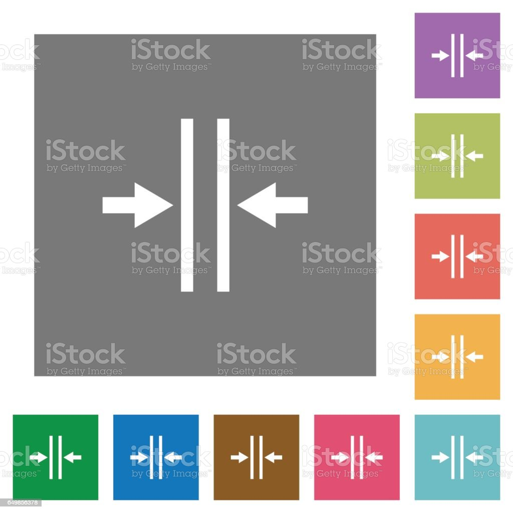 Adjust text column gutter square flat icons vector art illustration