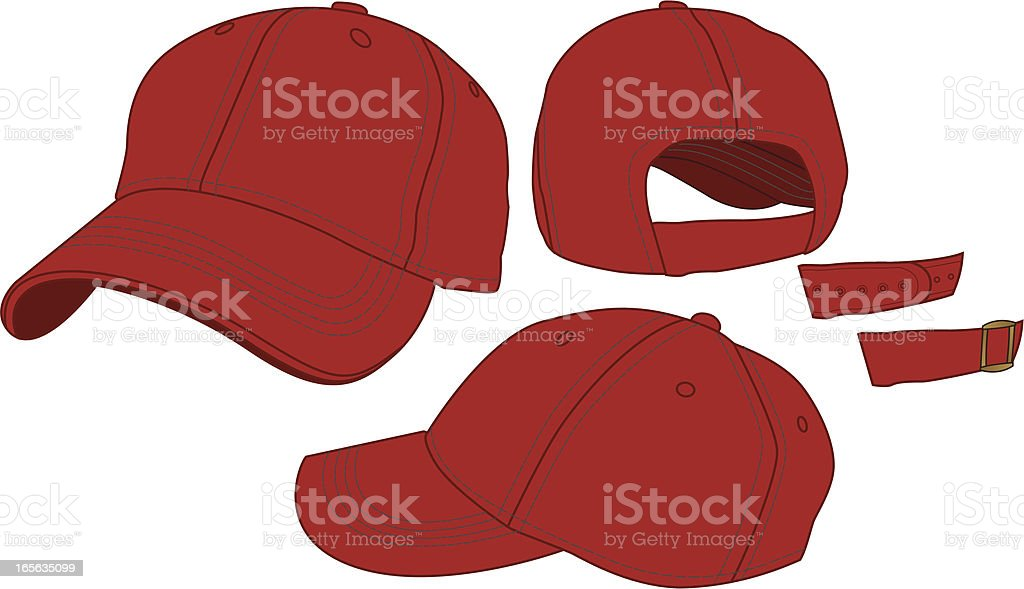 Adjustable Baseball Hat Template royalty-free stock vector art