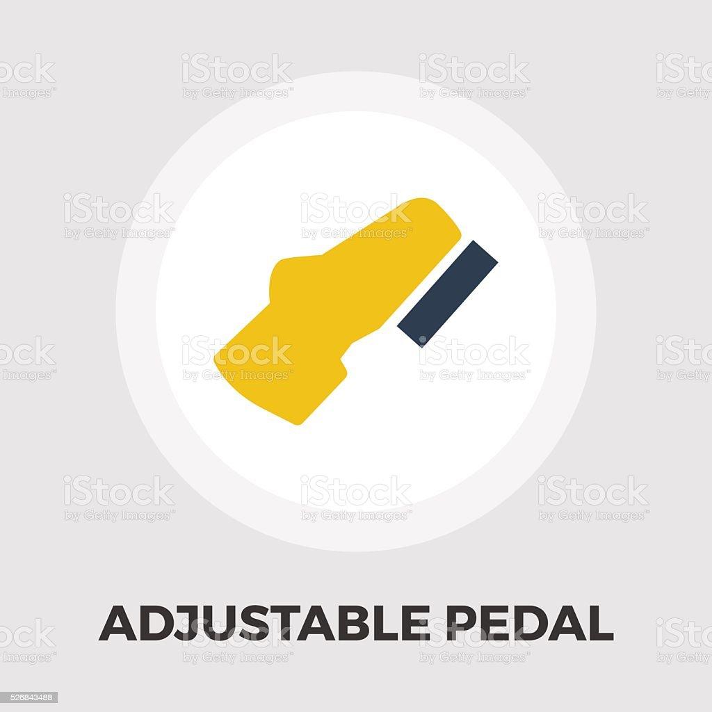 Adjustable pedal flat icon vector art illustration