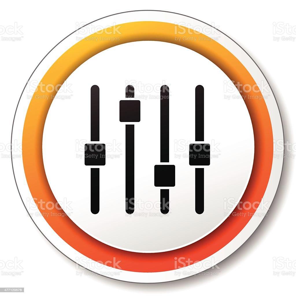 adjustment orange icon vector art illustration