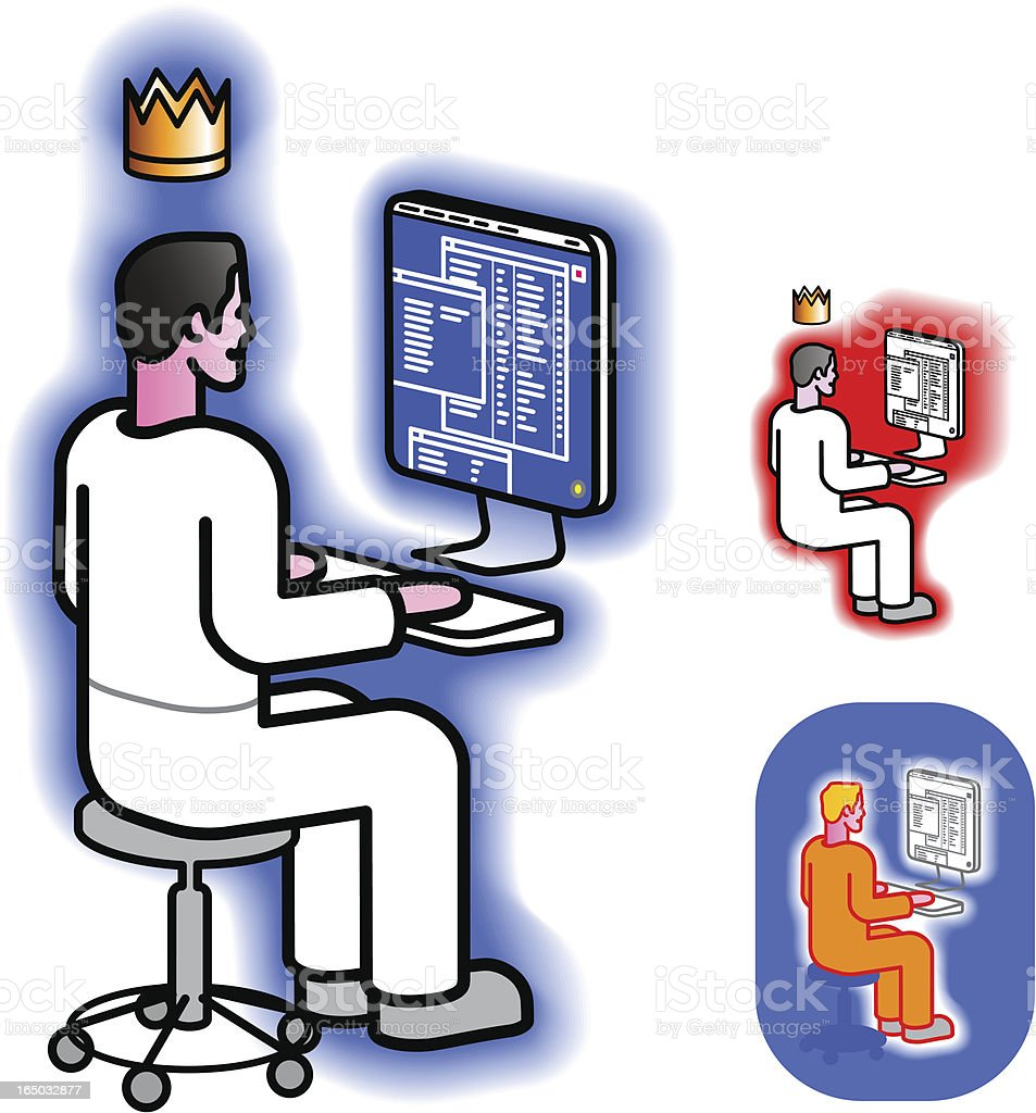 Admin is King! royalty-free stock vector art
