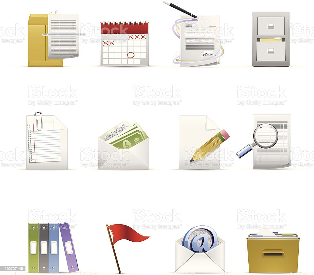 Administrative Icons royalty-free stock vector art