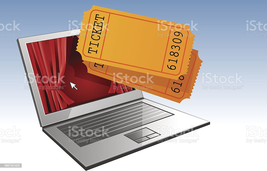 Admission ticket royalty-free stock vector art