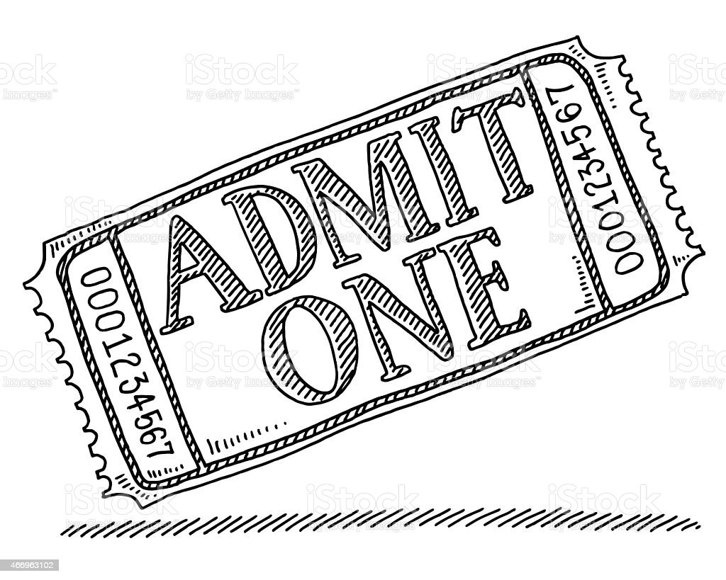 admit one admission ticket drawing stock vector art 466963102 istock admit one admission ticket drawing royalty stock vector art