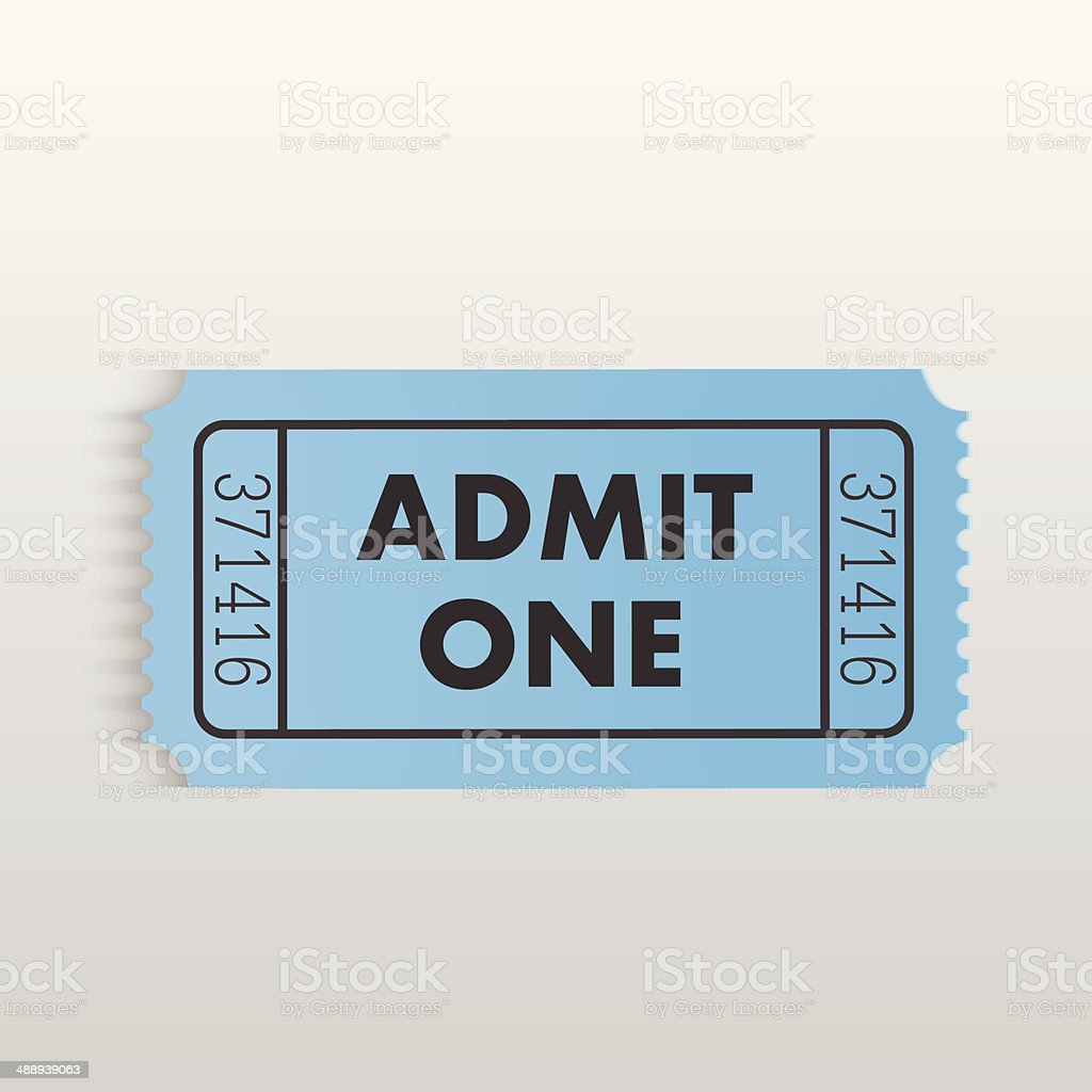 Admit One Ticket vector art illustration