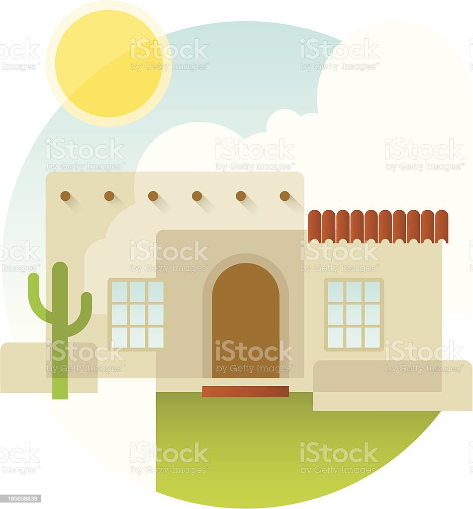 Adobe home royalty-free stock vector art