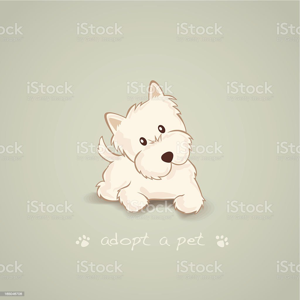 Adopt a Pet Westie royalty-free stock vector art