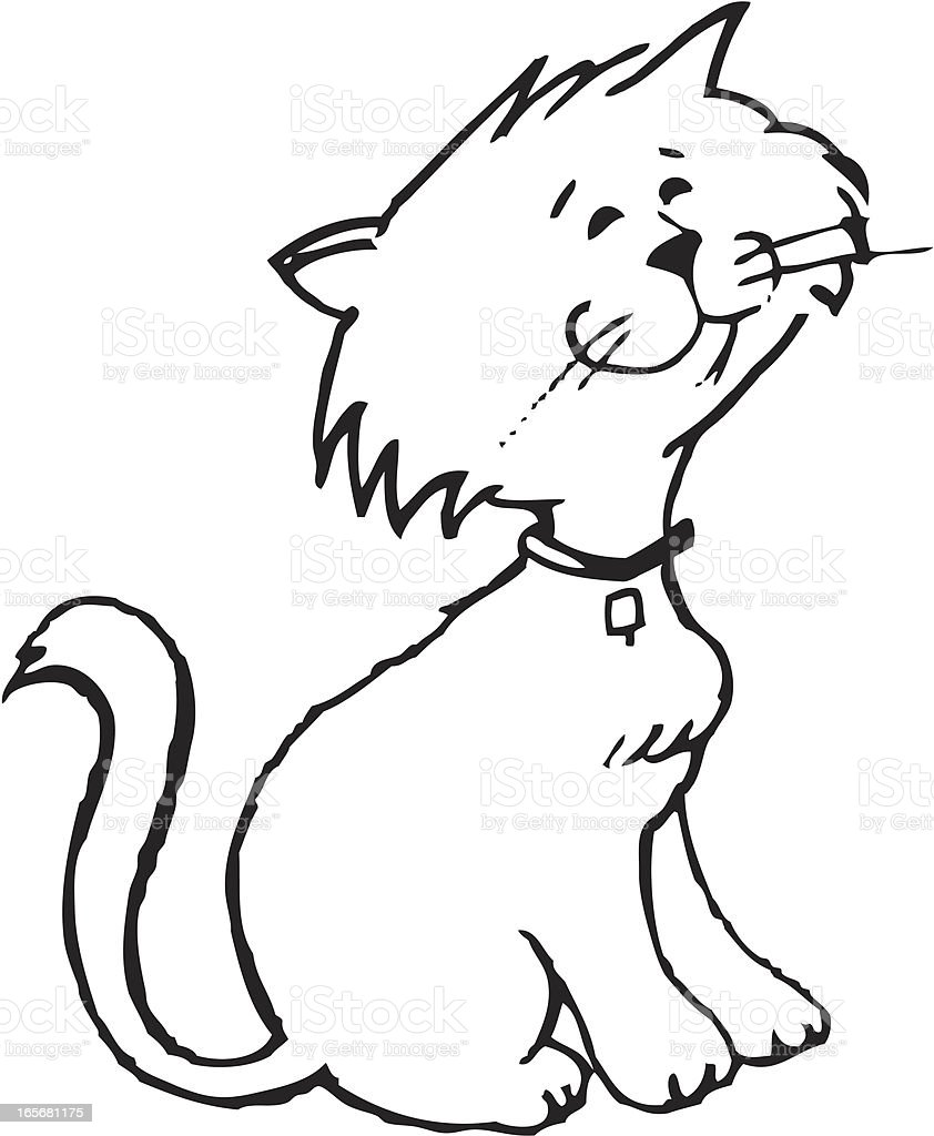Adorable Kitty Sketch royalty-free stock vector art