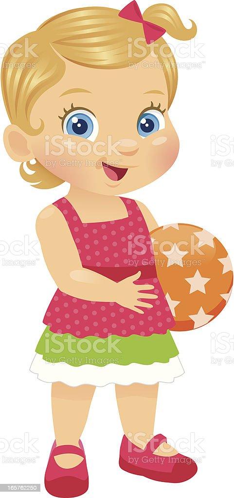 Adorable Little Toddler Girl royalty-free stock vector art