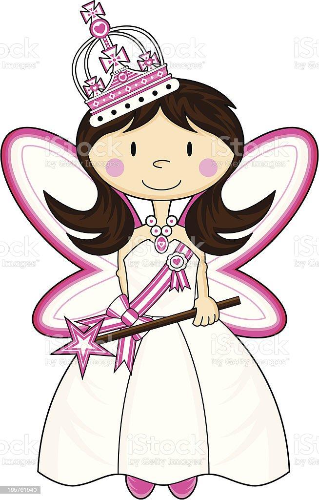 Adorably Cute Little Princess royalty-free stock vector art
