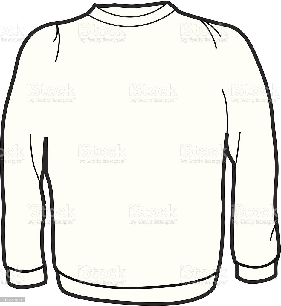 Adult Crew Neck Sweater royalty-free stock vector art